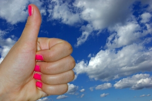 bigstockphoto_thumbs_up_to_the_sky_25856222