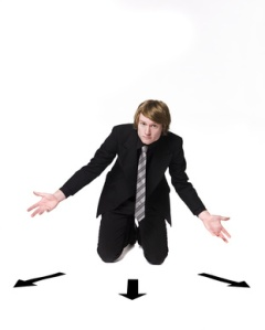 Man in front of a choice