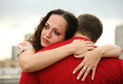 Image result for man consoling crying woman